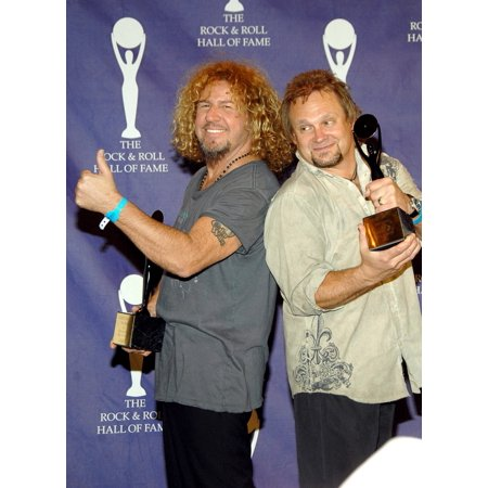 Michael Anthony Sammy Hagar Of Van Halen Inductees In The Press Room For Induction Ceremony Rock And Roll Hall Of Fame Waldorf-Astoria Hotel New York Ny March 12 2007 Photo By George TaylorEverett Col
