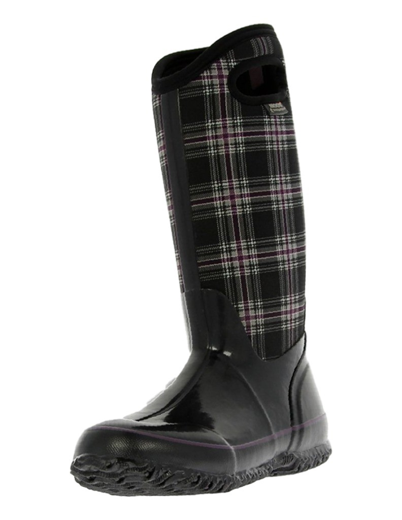 Bogs Boots Womens Classic Winter Plaid Tall WP Rubber 71536 by Bogs
