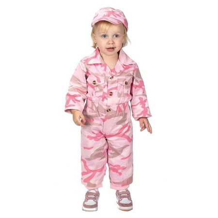 Image of Aeromax Jr. Camouflage Costume with Cap, Pink (16-21 months)