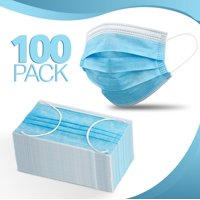 100-Pack, Disposable Face Mask 3-layer Ear Loop