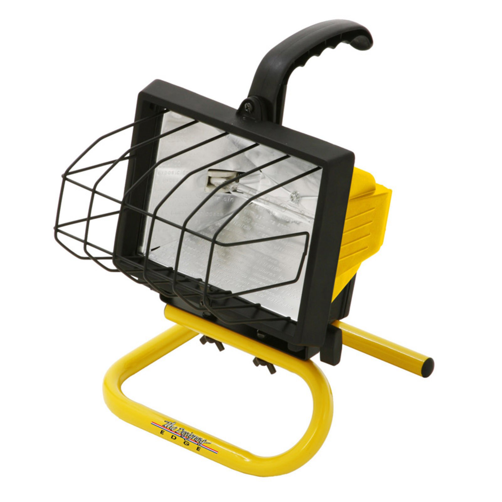 Designers Edge L20 Portable Handheld Work Light, Yellow, 500W