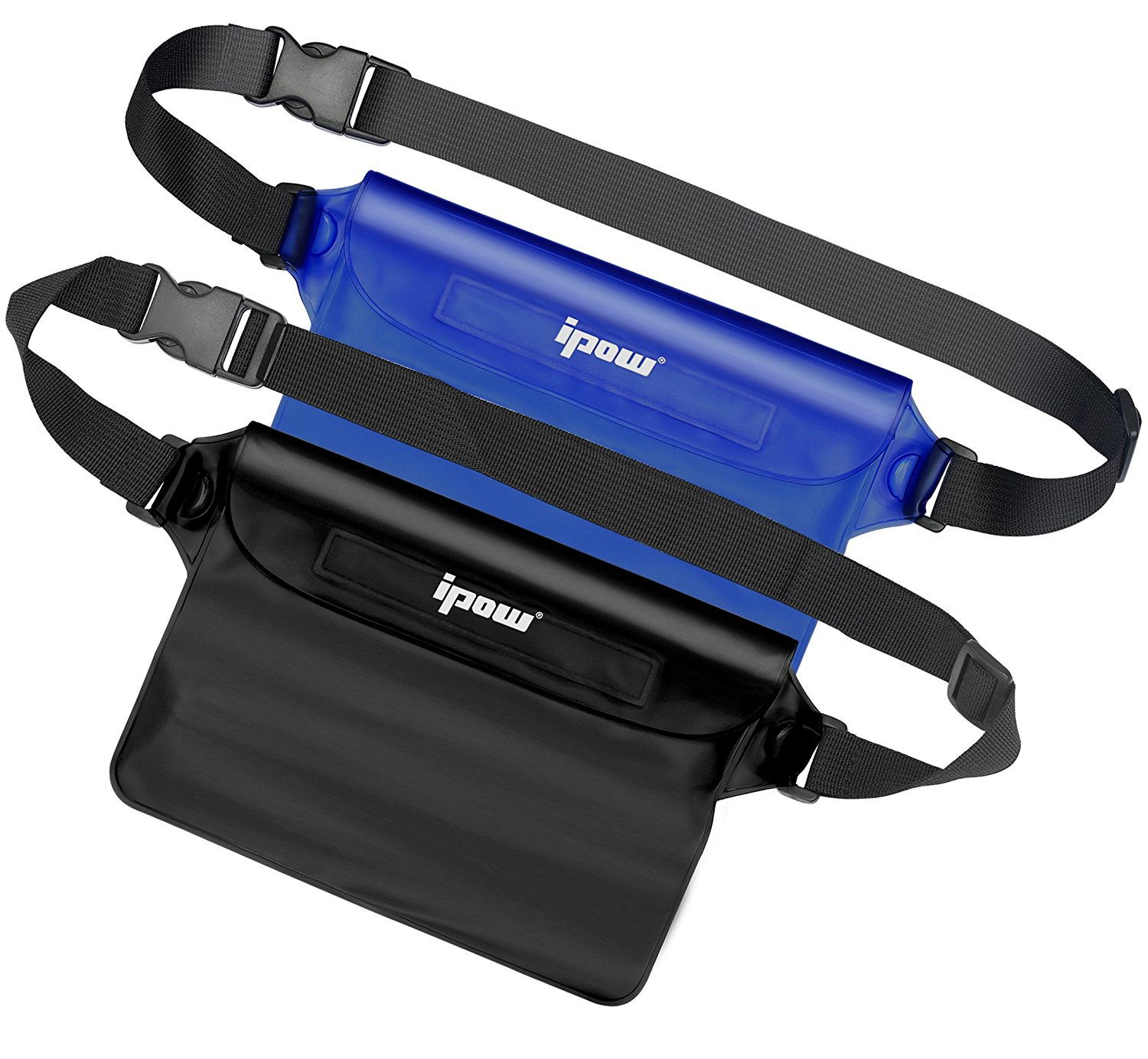 2 Pack,Ipow Waterproof Pouch Bag Case Waist Strap for Beach, Swim, Boating, Kayaking, Hiking, Etc,Protect Iphone,Cellphone,Camera,Cash,Mp3,Passport, Document