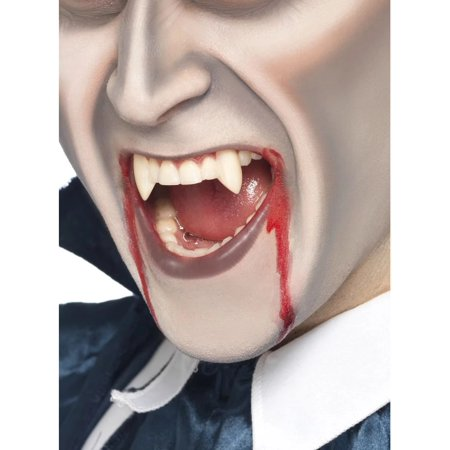 White Vampire Fang Tooth Caps Unisex Adult Halloween Make-Up Costume Accessory - One Size