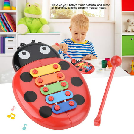 EECOO Baby Musical Instrument Gift Xylophone Beetle Toys for Children Educational Development,Beetle Musical Toy,Xylophone Toy (Toddler Musical Instruments)