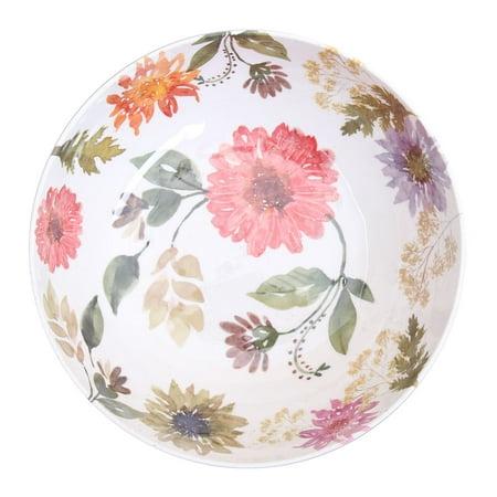 Better Homes & Gardens Outdoor Melamine Floral Serve Bowl, Set of 2 ()