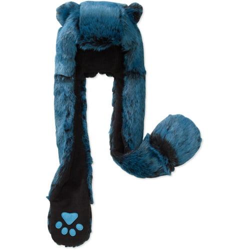 Boys' Faux Fur Critter Hood