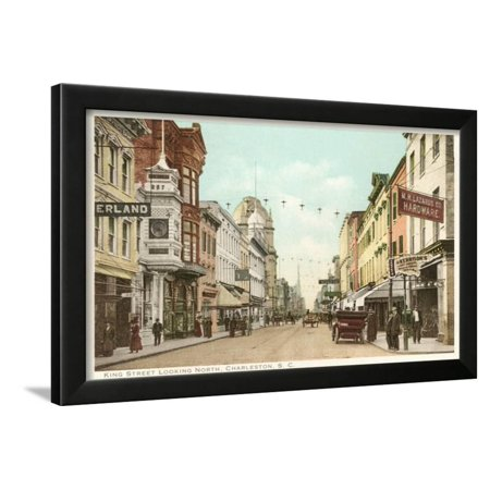 King Street, Charleston, South Carolina Framed Print Wall (Charleston King Street)