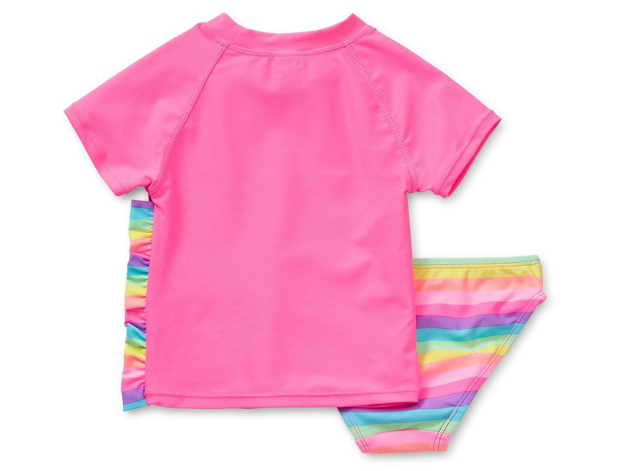 Okie Dokie Pattern Rash Guard Set Toddler Size 2T 3T 4T New