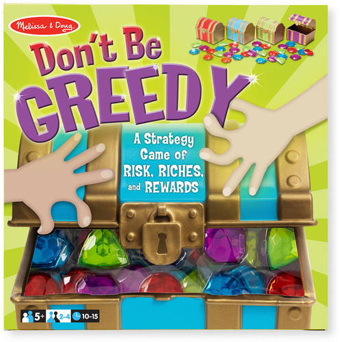 Melissa & Doug Don't Be Greedy Strategy Game - 4 Treasure Chests, 33 Jewels 9450