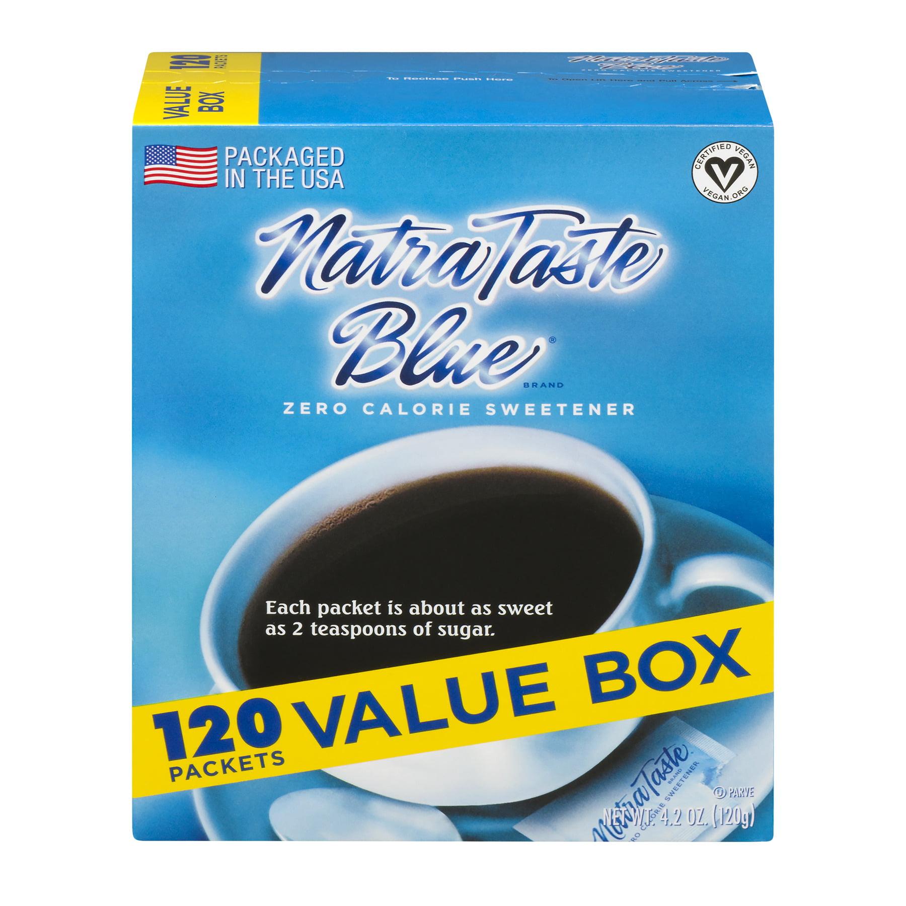 (3 Pack) NatraTaste Blue Sweetener Zero Calorie, 1.0 G
