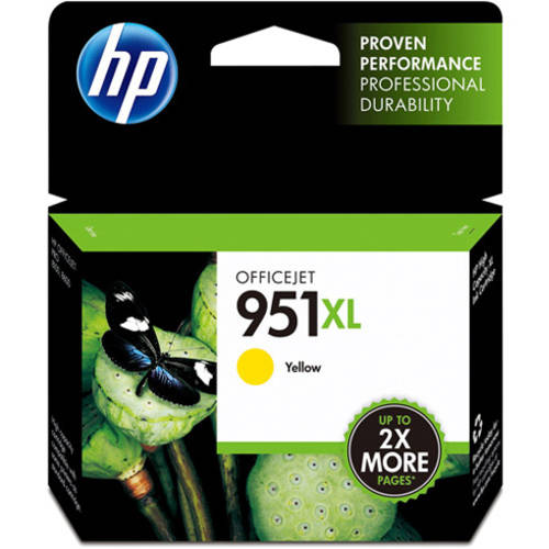 HP 951XL Yellow High Yield Original Ink Cartridge (CN048AN)