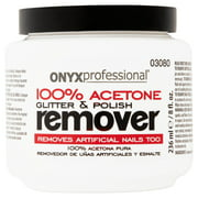 Onyx Professional 100% Acetone Glitter & Polish Remover, 8 fl oz