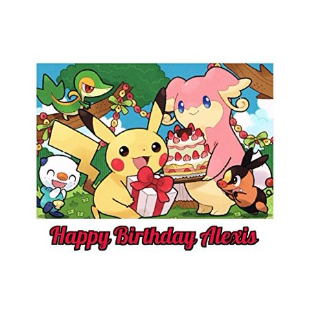 Pokemon Pikachu Edible Image Photo Cake Topper Sheet Personalized Custom Customized Birthday Party