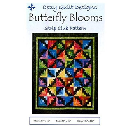 Butterfly Blooms quilt pattern by Georgette Dell'Orco, Butterfly Blooms - A Strip Club Pattern Designed for 2½ Strips. By Cozy Quilt Designs