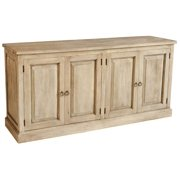 Wide Large Buffet in Rustic Gray