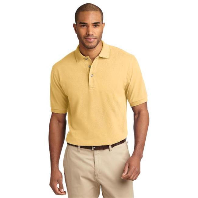 Port Authority K420 Mens Heavyweight Cotton Pique Polo T-Shirt, Yellow - 4XL - image 1 de 1