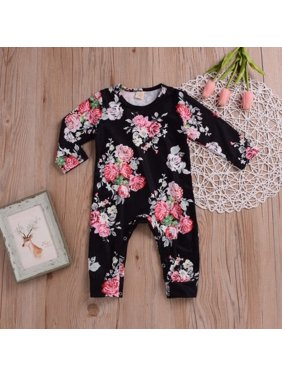 6dd30012da1a Baby Girls Rompers   One-pieces - Walmart.com