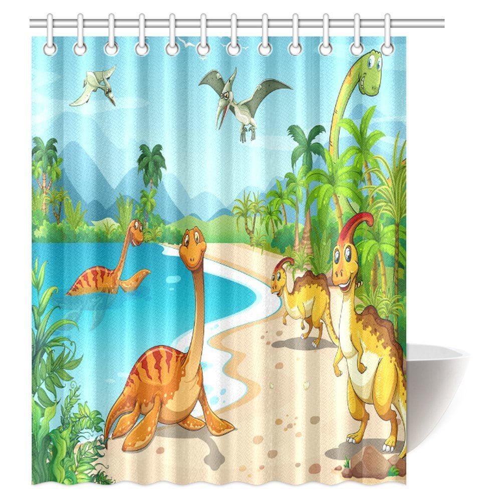 Mypop Boys Teens Kids Animal Decor Shower Curtain Cartoon