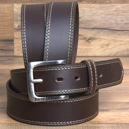Leather Jean Casual Belt - 32 MENS BROWN LEATHER CASUAL JEAN BELT 1-1/2 CHOCOLATE BROWN