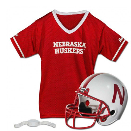 new product 3290b f0bf2 Franklin Sports NCAA Nebraska Huskers Helmet Jersey Set