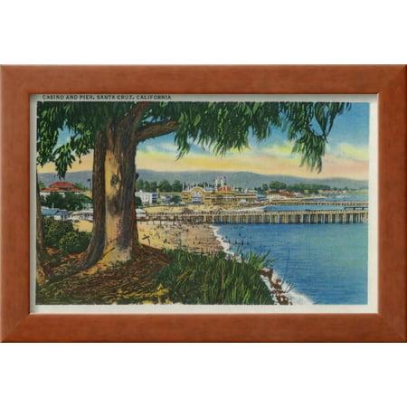 casino and pier santa cruz santa cruz ca framed print wall art by