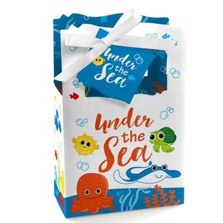 Under the Sea Critters - Baby Shower or Birthday Party Favor Boxes - Set of 12 - Under The Sea Party Favors