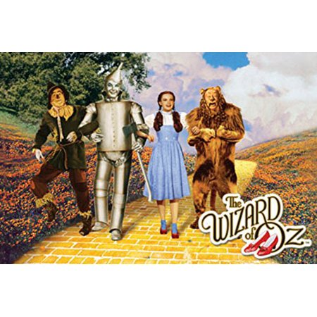 The Wizard of Oz - Yellow Brick Road Poster - Wizard Of Oz Heart Clock
