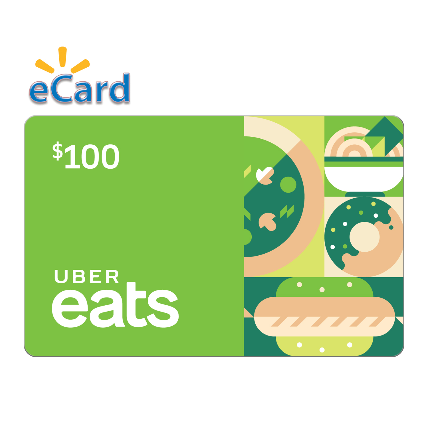 Uber EATS $100 (email delivery)