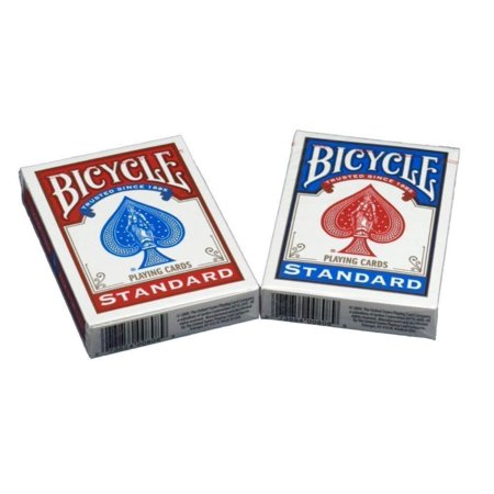 Poker Size Standard Index Playing Cards, 4 Deck Player's Pack, Quality plastic coated paper playing cards By Bicycle Bicycle Clear Plastic Poker