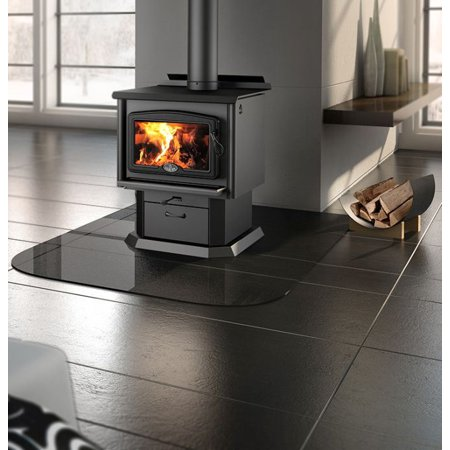 Osburn 1600 Wood Stove w/ Black Door Overlay and Pedestal Kit