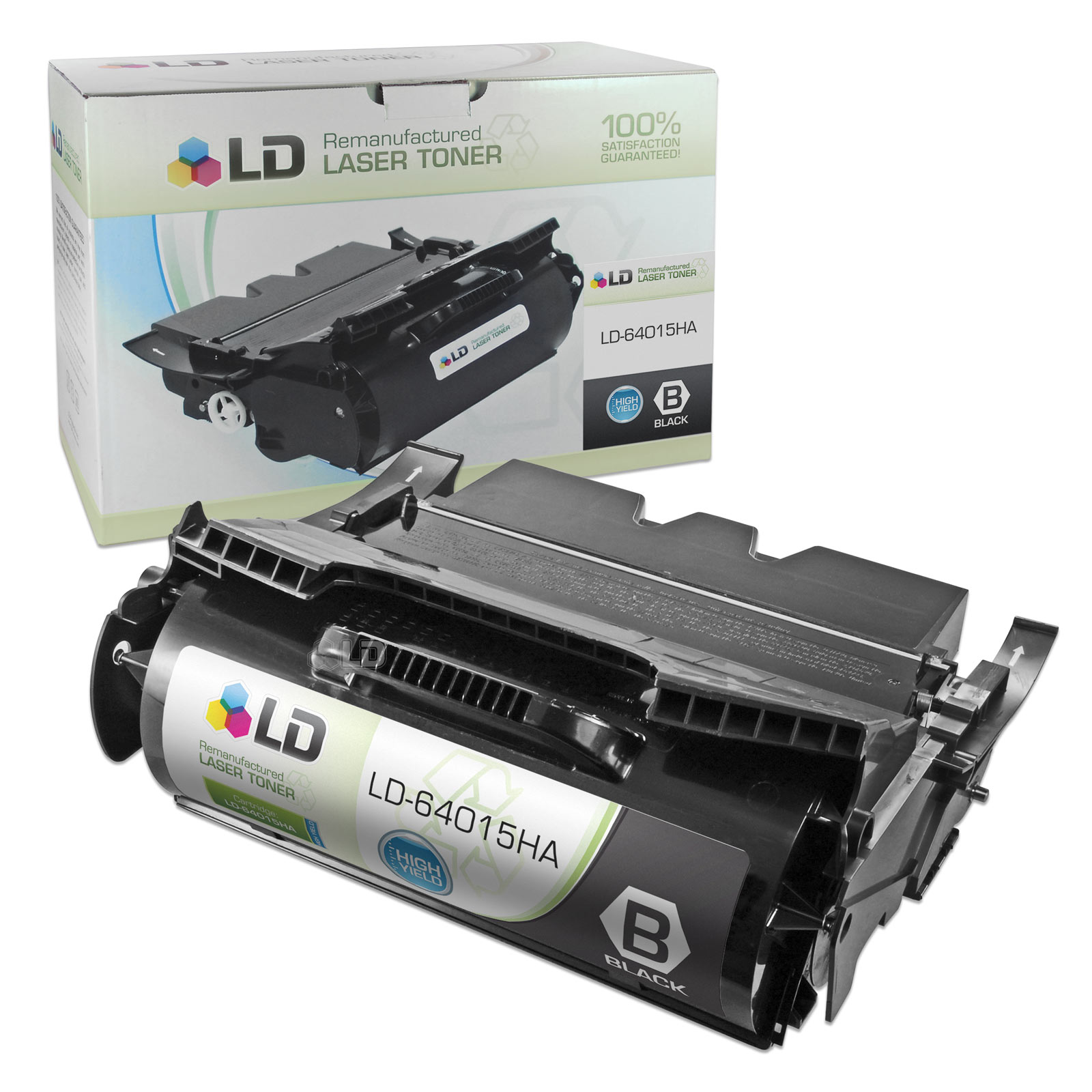 LD Remanufactured High Yield Black Laser Toner Cartridge for Lexmark 64015HA for the T644tn, T642dtn, T640, T642tn,