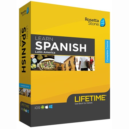 Rosetta Stone: Learn Spanish LA with Lifetime Access on iOS, Android, PC, and Mac [Physical Box]
