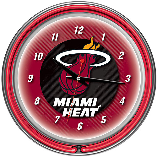 "Miami Heat NBA 14"" Neon Wall Clock"
