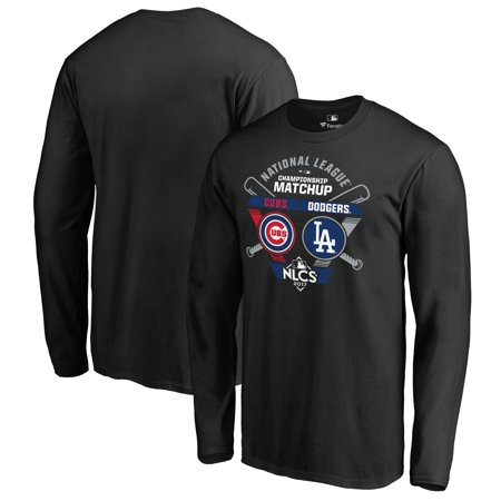 Chicago Cubs vs. Los Angeles Dodgers Fanatics Branded 2017 National League Championship Series Matchup Bases Loaded Long Sleeve T-Shirt -