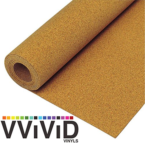 Natural Cork Board Textured Vinyl Wrap Shelf & Drawer Liner Underlayer Paper Adhesive Roll – Choose Your Size