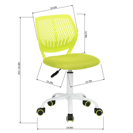Furniture R Task Chair, Mid-Back Height Adjustable Student Teens Desk Computer Office Chair - image 4 of 8