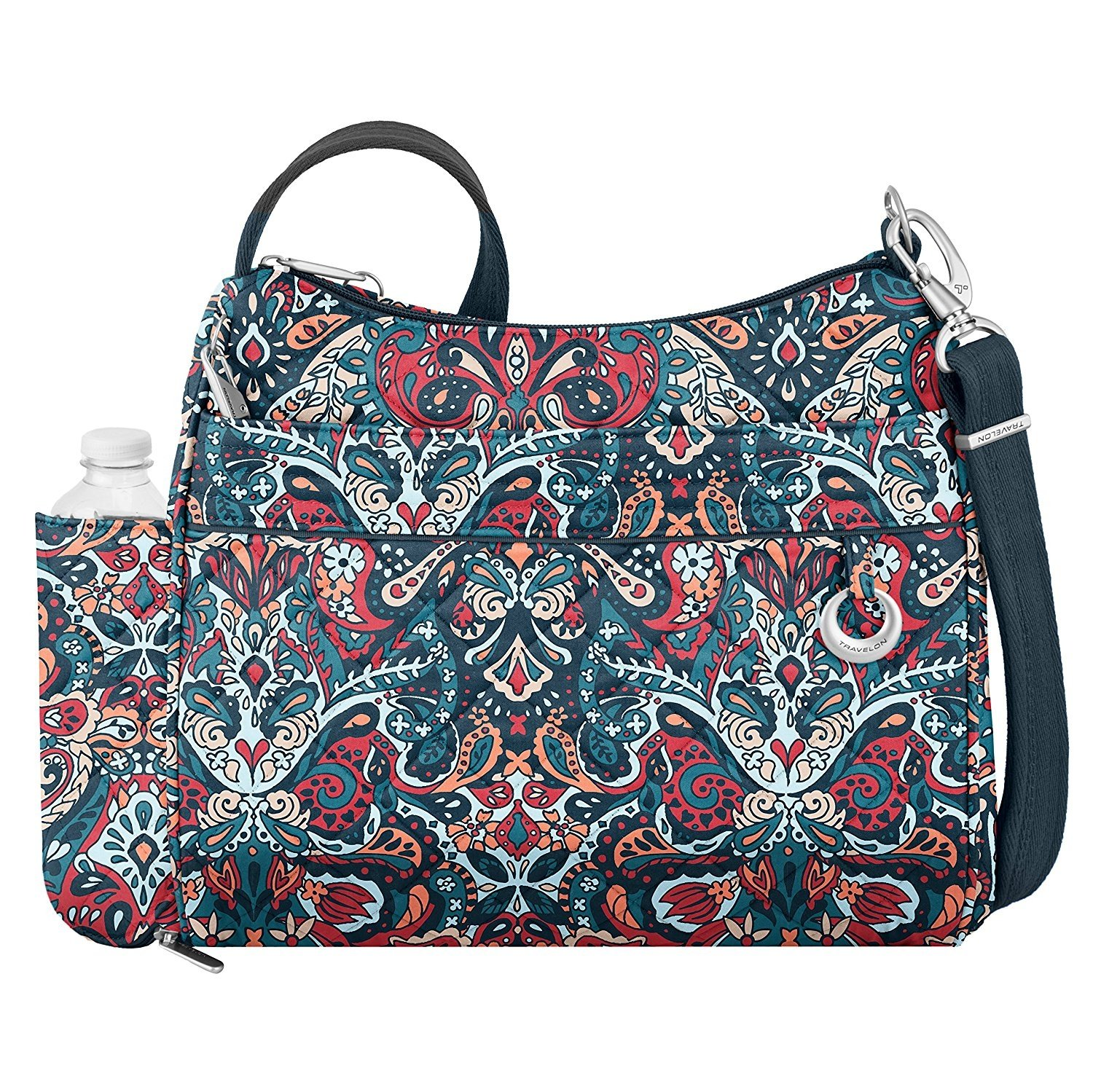 "Women's Travelon Anti-Theft Boho Square Crossbody  12"" x 11.25"" x 4"""