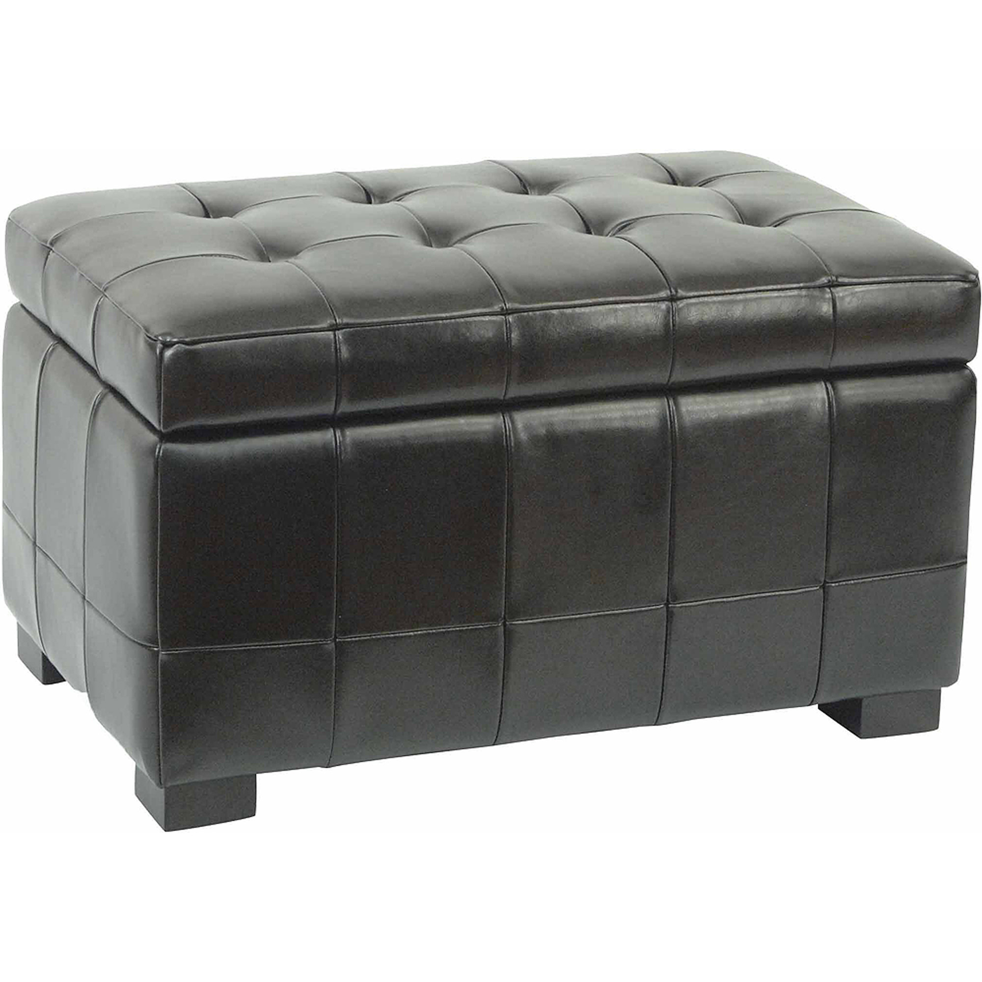 Safavieh Small Manhattan Beechwood Bicast Leather Upholstered Storage Bench, Multiple Colors