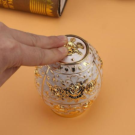 Sonew 1pc Metal Zinc Alloy Toothpick Holder Flower Pattern Hand Press Toothpick Dispenser,Toothpick Holder, Toothpick Dispenser - image 3 of 7