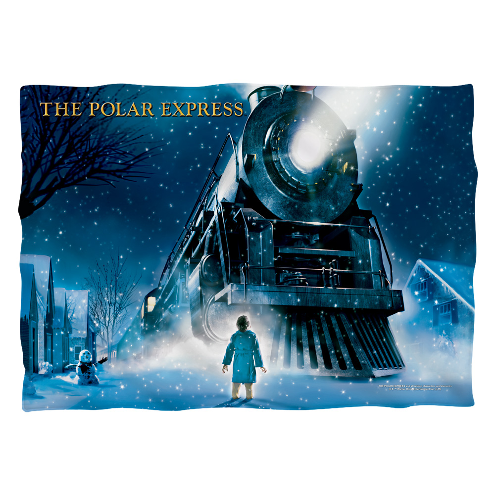 Polar Express Poster (Front Back Print) Poly 20X28 Pillow Case White One Size