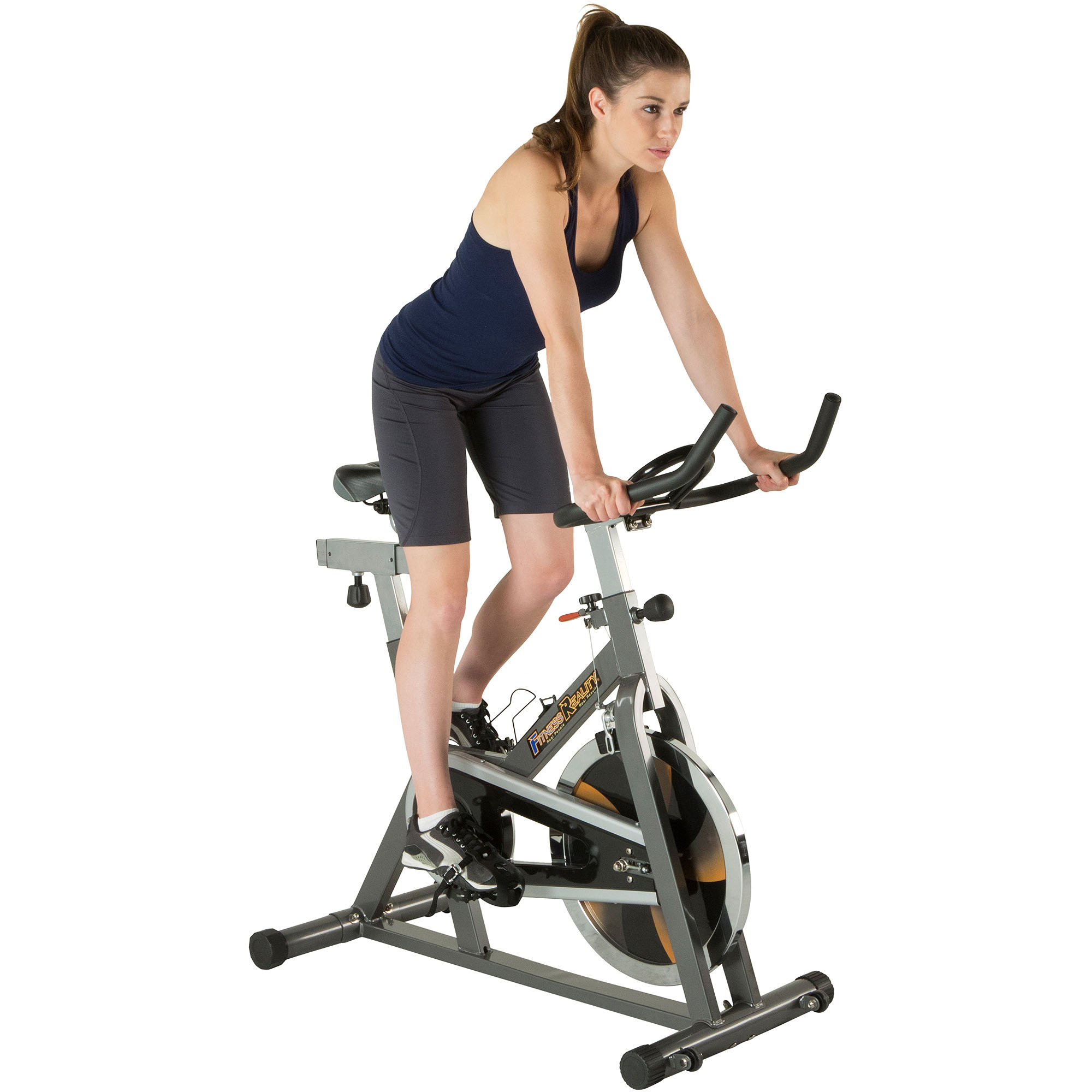 Fitness Reality S475 Wide Steel Frame Indoor Exercise Cycling Bike