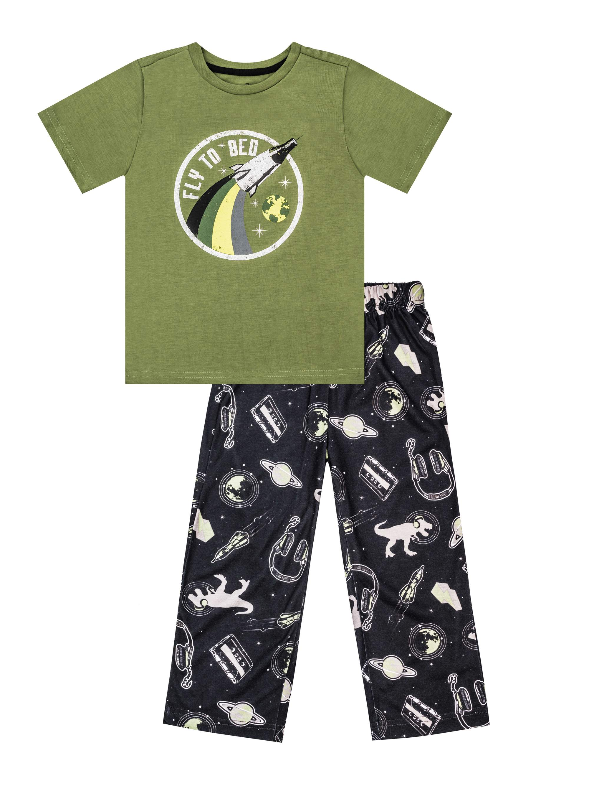 Boys' Space 2 Piece Pajama Sleep Set (Little Boy & Big Boy)