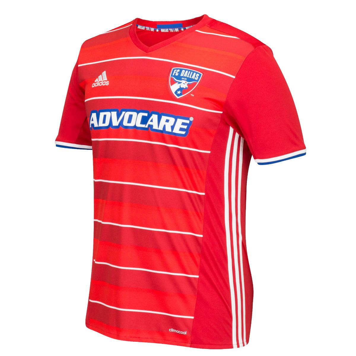 FC Dallas Adidas MLS Climalite Men's On-Field Replica Short Sleeve Jersey