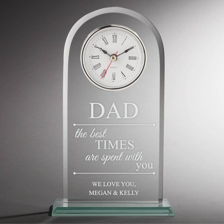 The Best Times Are Spent with You Personalized Glass Clock