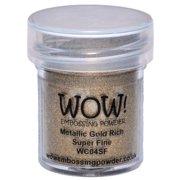 WOW! Embossing Powder Super Fine 15ml-Gold Rich