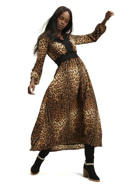 Scoop Leopard Print Maxi Dress Women's