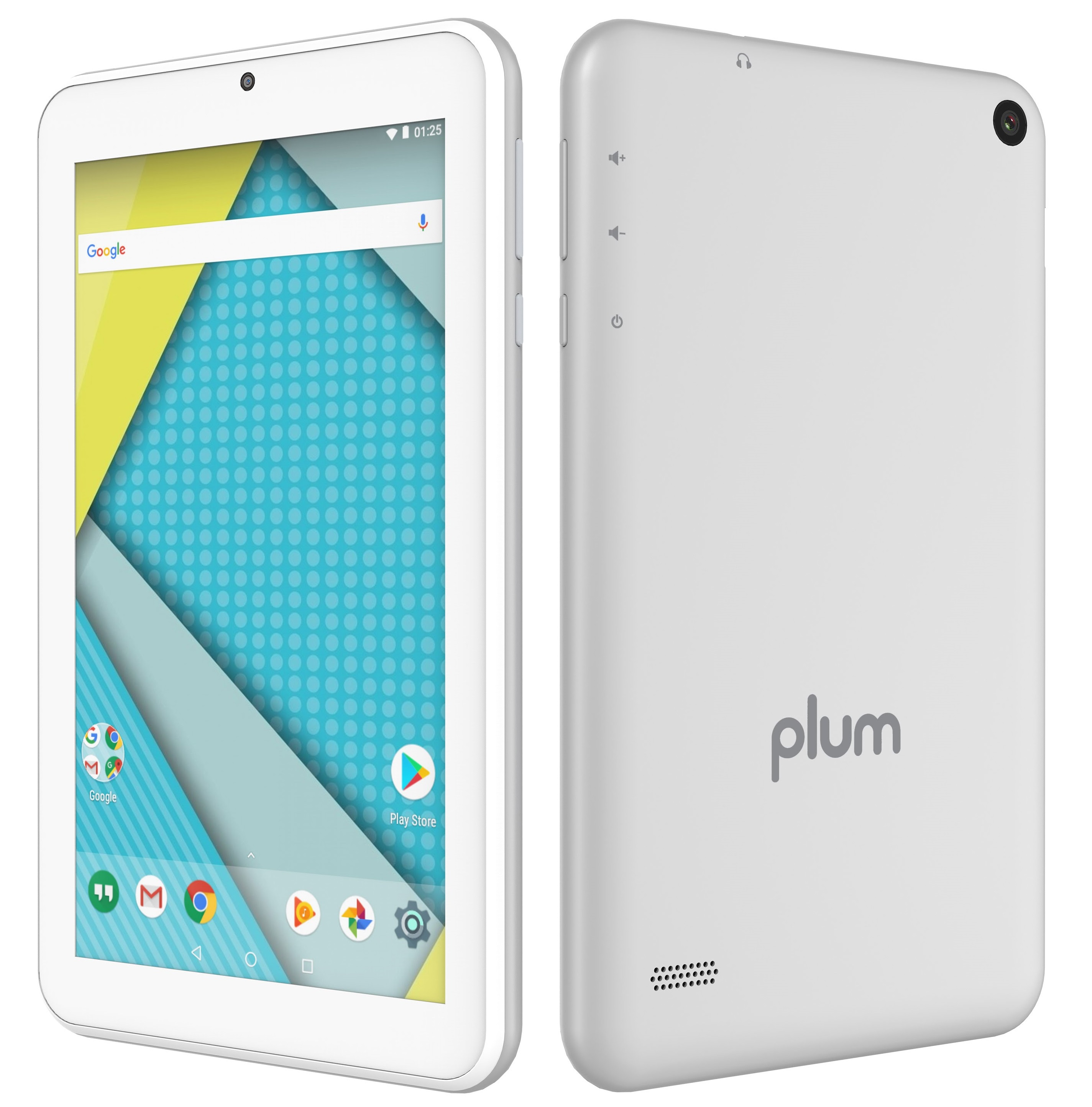 "Plum Optimax 2 - Android Tablet 7"" Display WiFi Dual Camera Quad Core Slim Body Beautiful Design - Silver"