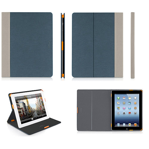 NEW MACALLY BLUE SLIM FOLIO CASE COVER STAND FOR APPLE iPAD 2 3 4 (SLIMCASEM)