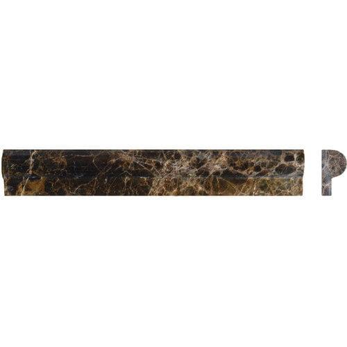 MS International 12'' x 2'' Polished Rail Molding Tile Trim in Emperador Dark