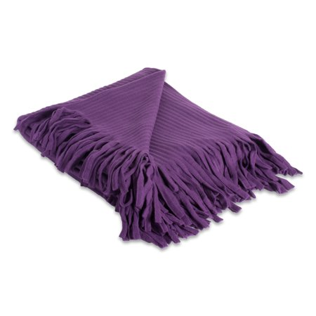 DII Fleece Fuzzy and Soft Microfiber Throw Blanket for Travelling, Camping, BBQ, Compact Size with Elastic Band, 36x54, Purple ()